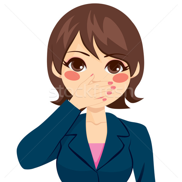 Woman Covering Mouth Stock photo © Kakigori