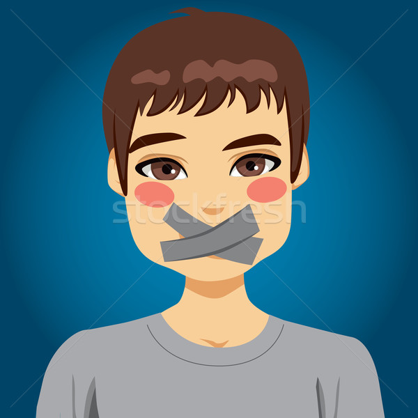 Man Silenced Mouth Stock photo © Kakigori