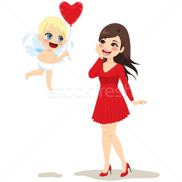 Cupid Delivering Love Stock photo © Kakigori