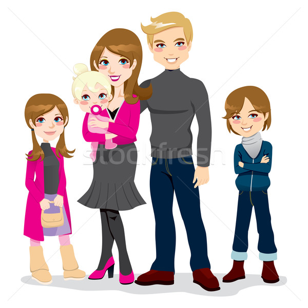 Happy Beautiful Family Stock photo © Kakigori