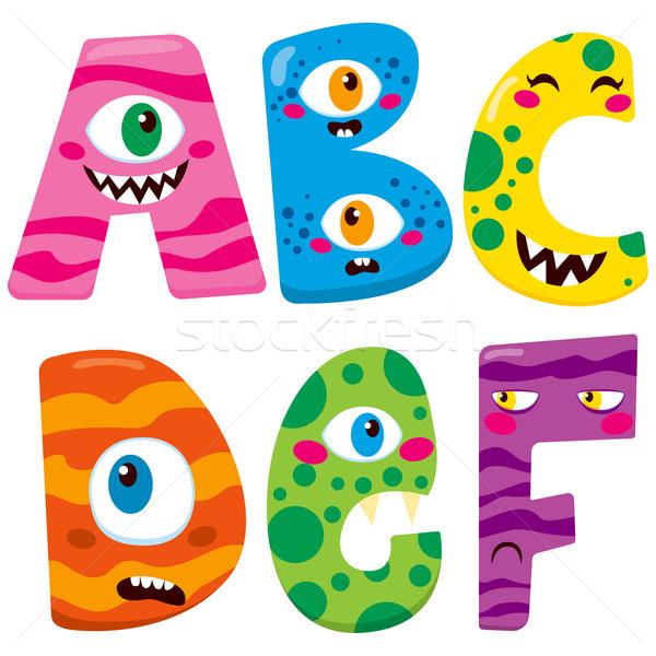Foto stock: Halloween · monstruo · alfabeto · funny · cute