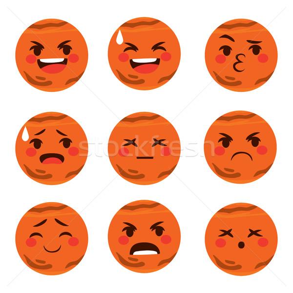 Mars Emoji Expressions Stock photo © Kakigori