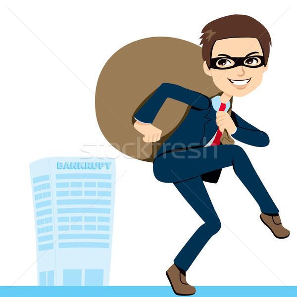 Ladrón empresario quiebra traje pesado Foto stock © Kakigori