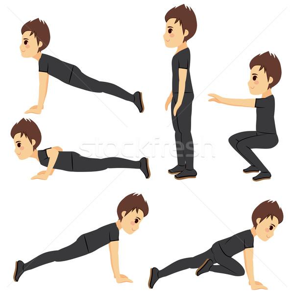 тренировки человека молодым человеком различный фитнес Сток-фото © Kakigori