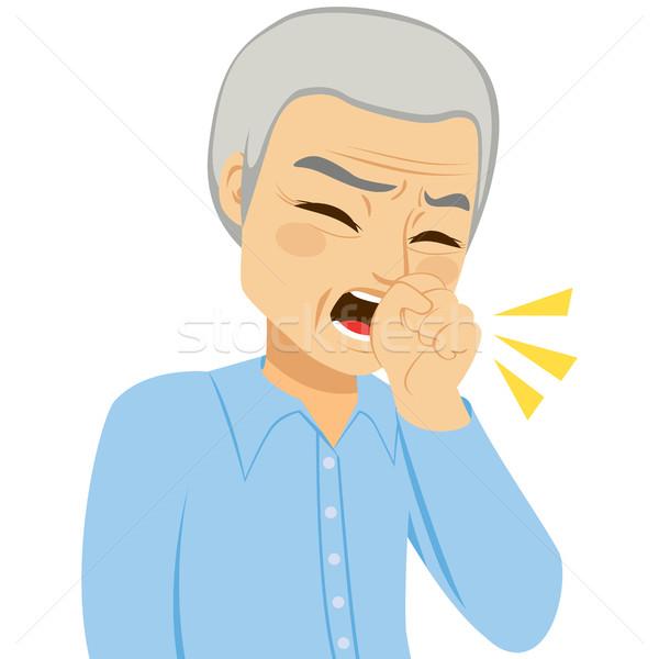 Coughing Senior Man Stock photo © Kakigori