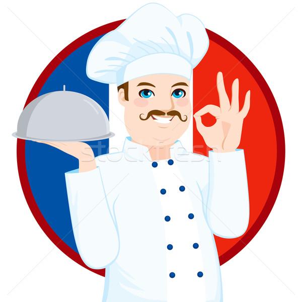 French Cuisine Chef With Mustache Stock photo © Kakigori