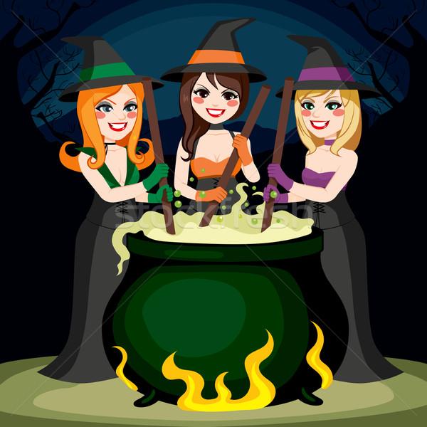 Halloween Witches Potion Stock photo © Kakigori
