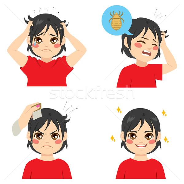 Chłopca cute inny zakażenie leczenie dziecko Zdjęcia stock © Kakigori