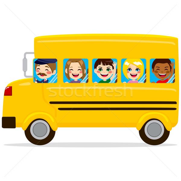 School Bus Kids Stock photo © Kakigori