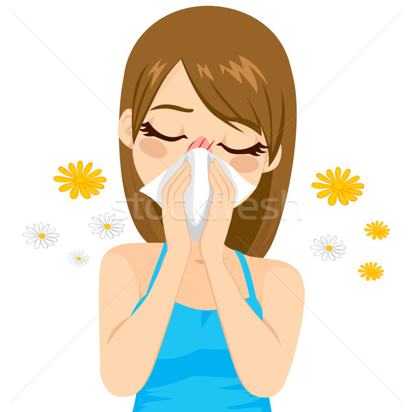Allergy Suffering Woman Stock photo © Kakigori
