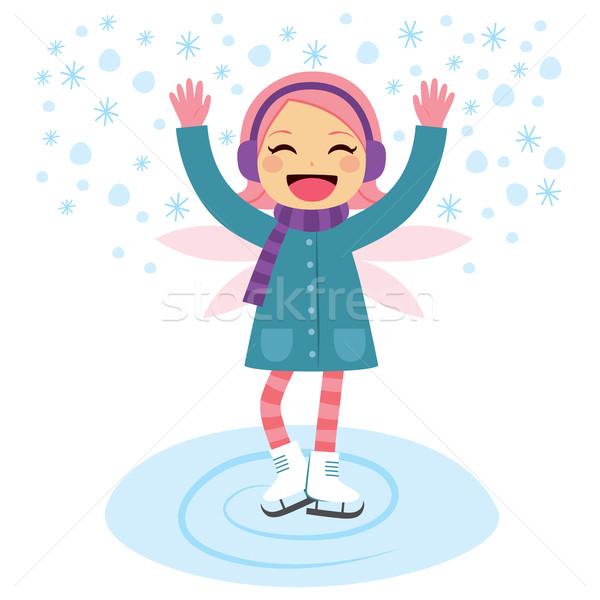 Winter Fairy Skating Stock photo © Kakigori