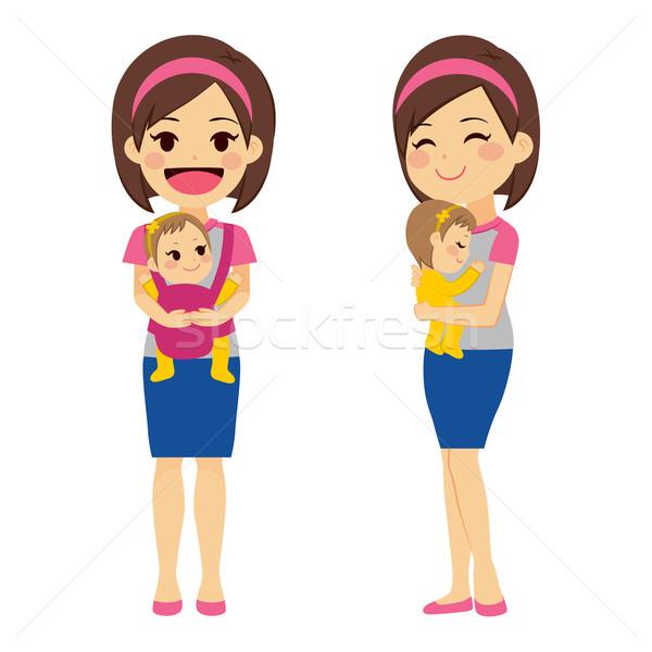 Mother Holding Baby Stock photo © Kakigori