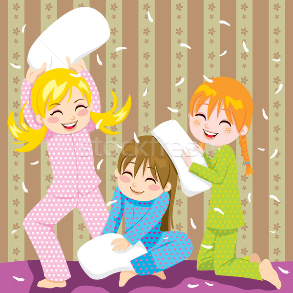 Stock photo: Pillow fight