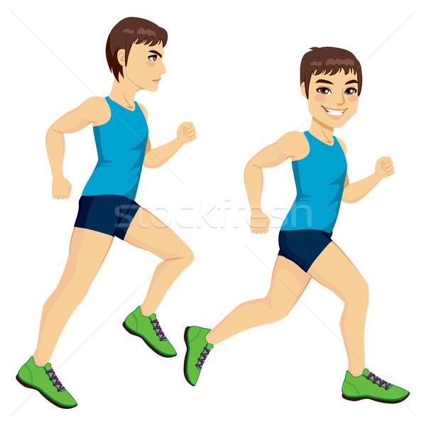 Male Runner Poses Stock photo © Kakigori