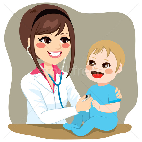 小児科医 調べる 赤ちゃん 医師 少年 訪問 ストックフォト © Kakigori