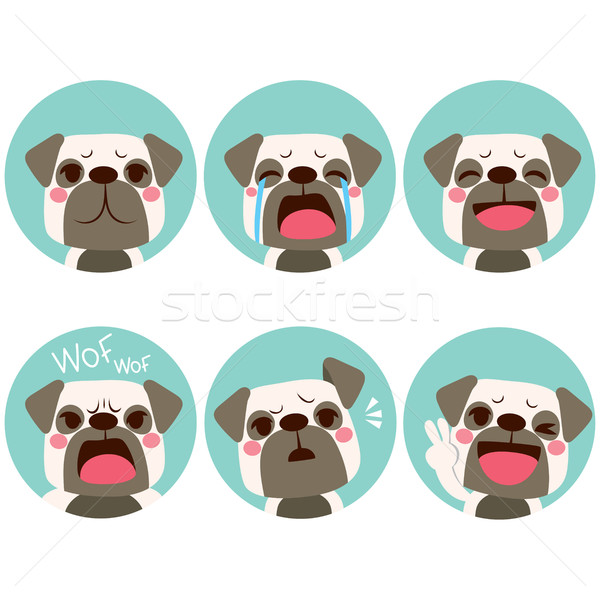 Emoji Dog Expressions Stock photo © Kakigori
