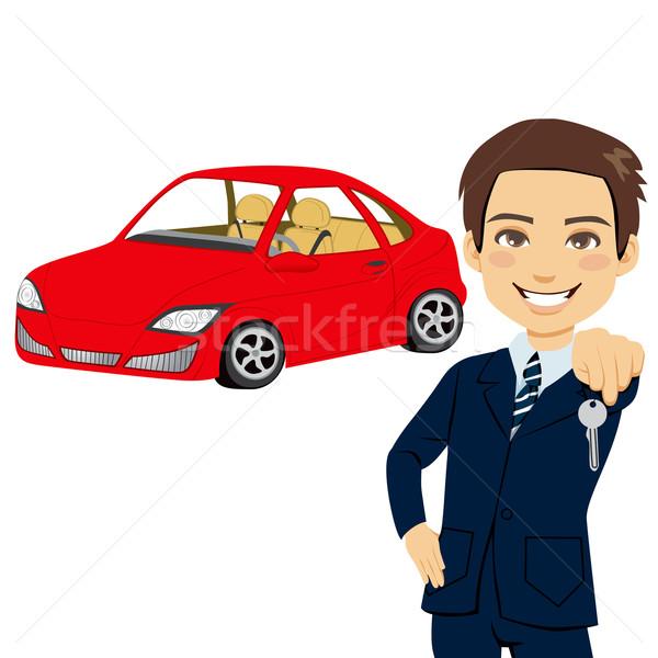 Young Automobile Salesman Stock photo © Kakigori