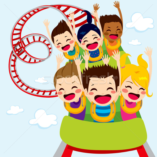 Stock photo: Roller Coaster Children