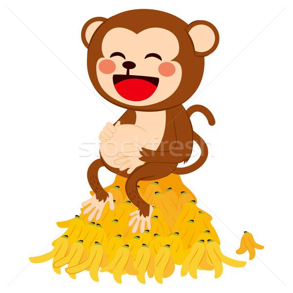 Funny Monkey With Banana Peels Stock photo © Kakigori