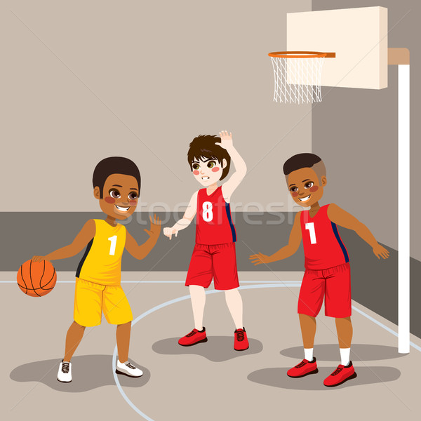 Boys Playing Basketball Stock photo © Kakigori