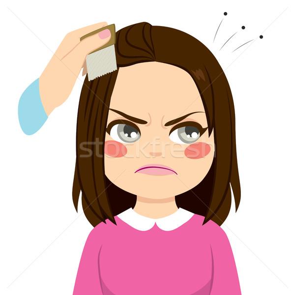 Combing Hair Lice Stock photo © Kakigori