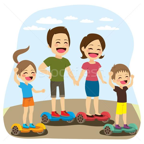 Famille activité équilibrage électriques Photo stock © Kakigori