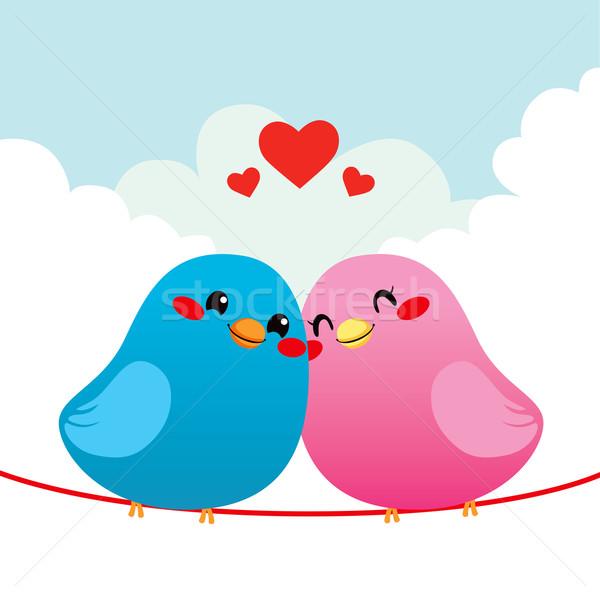Рисовать влюбленных птиц