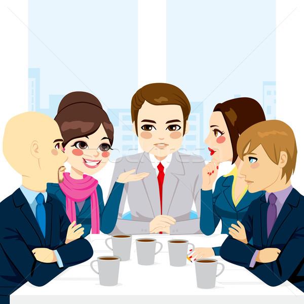Bussiness Team Discussing Stock photo © Kakigori