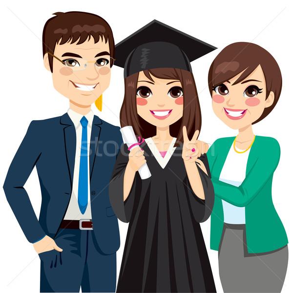 両親 誇りに思う 娘 卒業 立って 幸せ ストックフォト © Kakigori