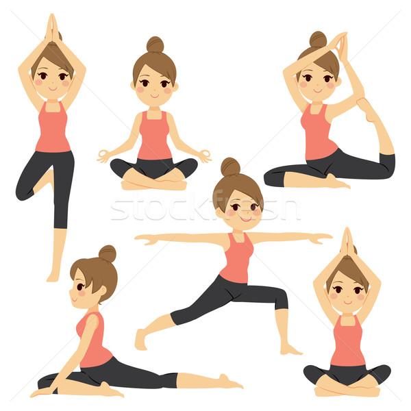 Photo stock: Yoga · femme · belle · femme