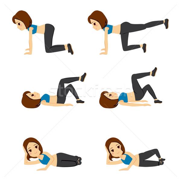 Woman Glute Exercising Stock photo © Kakigori