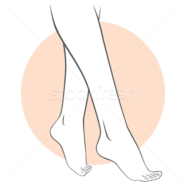 Pedikűr lábak törődés stilizált illusztráció női Stock fotó © Kakigori
