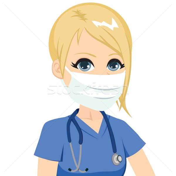 Female Nurse Medical Mask Stock photo © Kakigori