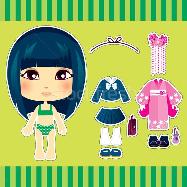 Японский моде девушки Cute бумаги кукла Сток-фото © Kakigori