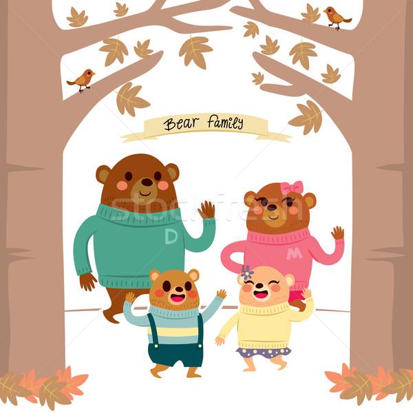 Bear Family Forest Stock photo © Kakigori