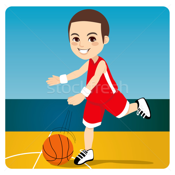 Basketball Junge jungen professionelle Ball Stock foto © Kakigori