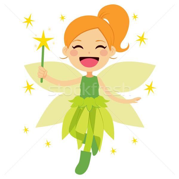 Cute Green Fairy Stock photo © Kakigori