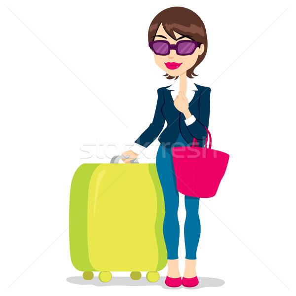 Woman With Luggage Stock photo © Kakigori