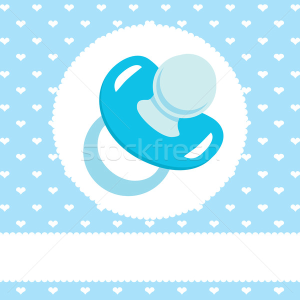 Blue Pacifier Design Stock photo © Kakigori