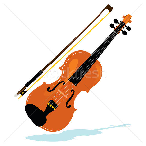Stock photo: Violin With Bow