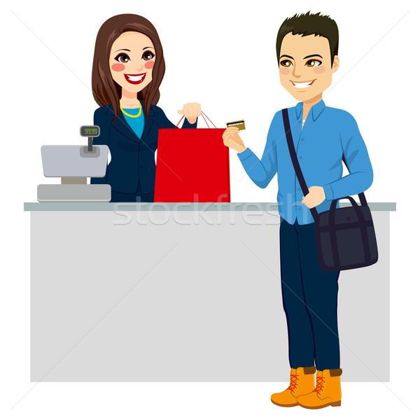 Homem cartão de crédito moço comprar feminino Foto stock © Kakigori