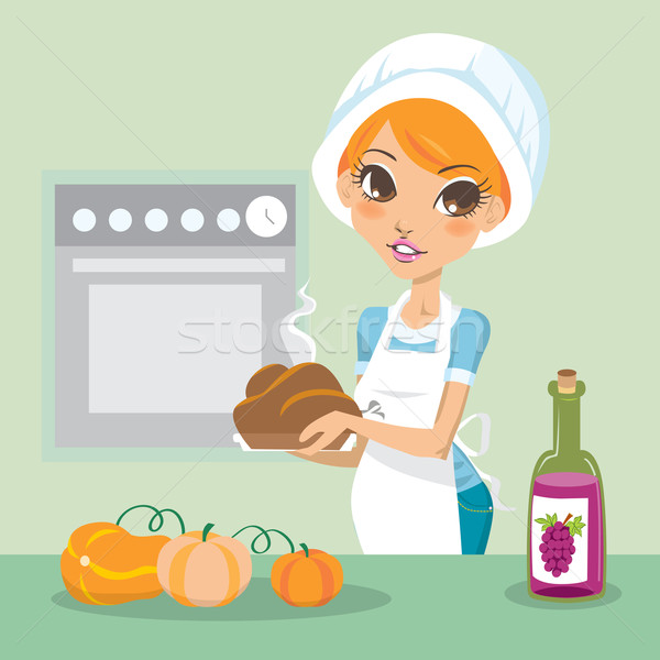 Thanksgiving Cooking Stock photo © Kakigori