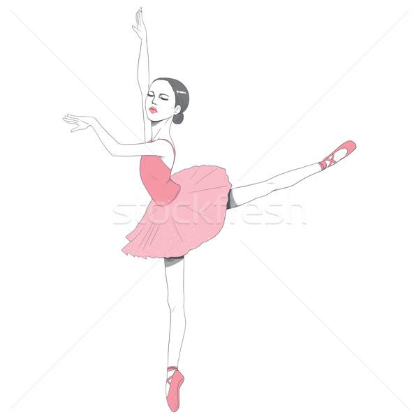 Pink Ballerina Tutu dress Stock photo © Kakigori