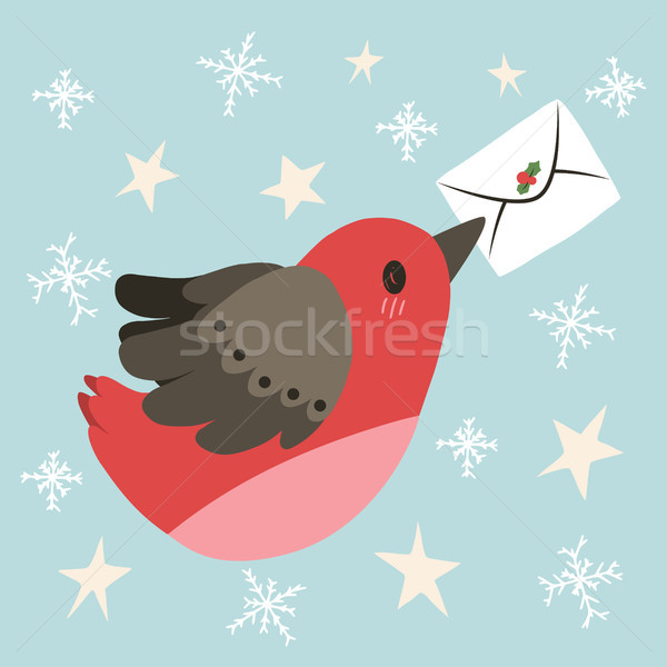 Flying Bird Christmas Letter Stock photo © Kakigori