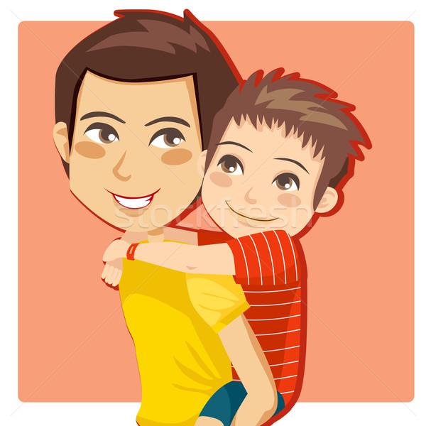 Нарисовать рисунок папа и сын на