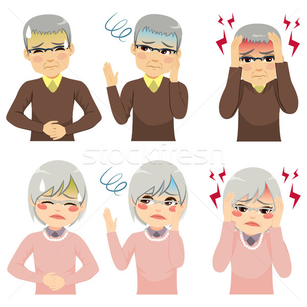 Health Symptoms Senior People Stock photo © Kakigori