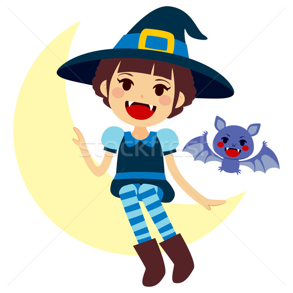 Vampire Witch and Vamp Mascot Stock photo © Kakigori