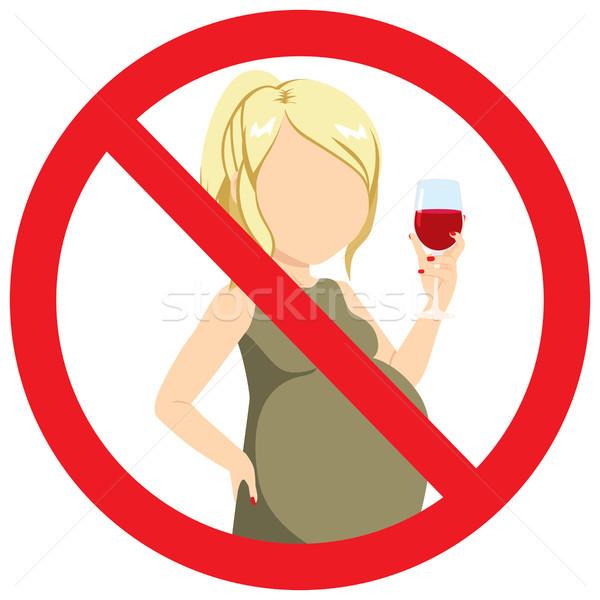 No Alcohol Pregnant Woman Stock photo © Kakigori