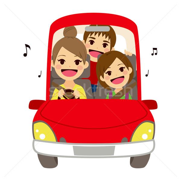 Mom Driving Kids School Singing Stock photo © Kakigori