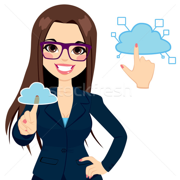 Cloud Computing Businesswoman Concept Stock photo © Kakigori